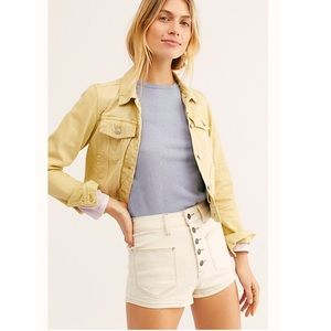 Free People Bridgette Cream High-waisted Shorts